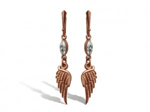 001 / Gold wings  / silver 925 / - Gothic silver earrings.