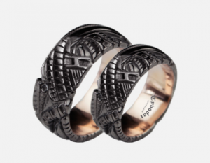 Biomechanical Wedding Bands  (GOLD 585)