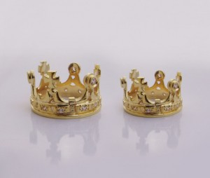 Gold Crown- Crown gold/silver, Wedding crown, Byzantine style , silver crown ring, Victorian crown