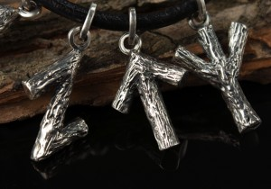 BIG RUNE - VIKING NECKLACE. Viking Runes. Runic pendant. Sterling Silver rune. Big silver runes.