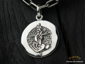 01 / TATTOO Antique coin  - Necklace made of  silver, antique coin. Necklace antique coin