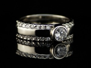 Album Diamond - engagement diamond ring, diamonds and gold, delicate engagement ring, white gold and white diamonds (1)
