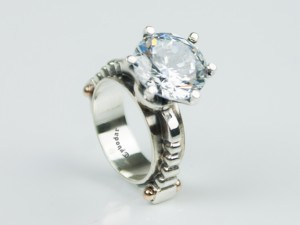 Hyacintho topazius - Huge Gemstone Sterling Silver Ring