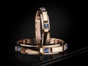 Rose gold wedding rings | TYVODAR