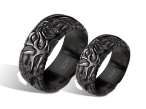 Fenrir (silver) - Viking ring with wolf heads - Silver Viking Wolf Head Ring Jewel Celtic Pagan Pagan Wolves Fenrir (1)