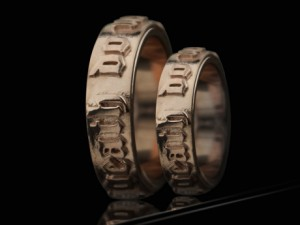 "Wedding Band Rings ""till death do us part"""