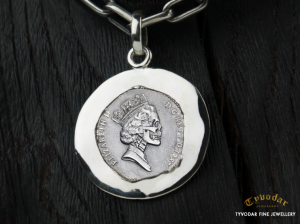 01 / Antique coin  - Necklace made of  silver, antique coin. Necklace antique coin (1) (1)
