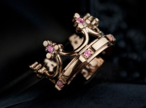 Rose gold crown ring | TYVODAR