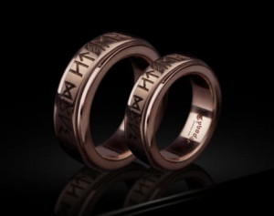 Wedding Band Ring Nordic Runes Till Death / Norse Mythology Viking