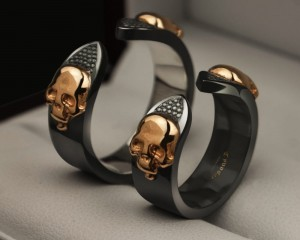 Skull wedding rings  | TYVODAR