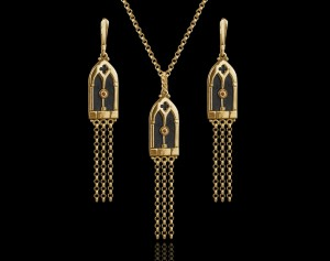 Gold gothic jewelry | TYVODAR