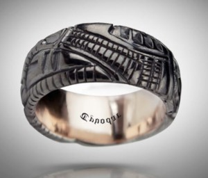BLACK Biomechanical ring - silver biomechanical ring, gothic silver ring, Anatomical ring / Steampunk / Biomechanics / Men ring/ Men gift