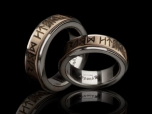 Gold rune rings | TYVODAR