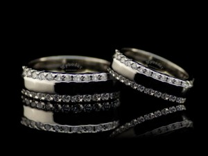 Wedding ring set, wedding band set