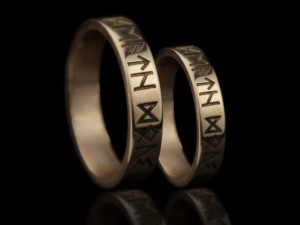 Rune wedding rings | TYVODAR