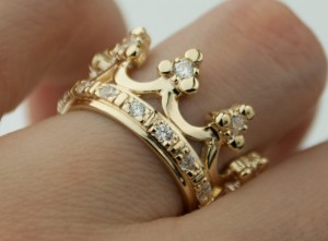 14k gold crown ring | TYVODAR