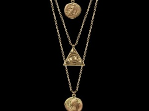 Gold coin necklace | TYVODAR