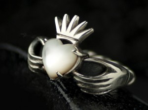 Claddagh ring / silver 925 /