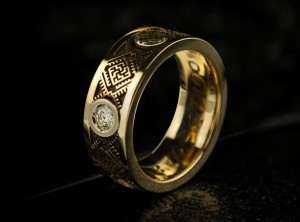 GOLD SLAVIC RING | TYVODAR