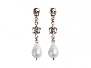 Pearl skull earrings | TYVODAR