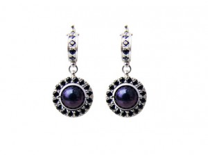 Black pearl earrings | TYVODAR