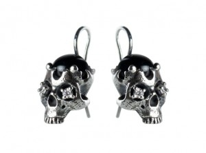 Black Onyx with Skull Earrings | TYVODAR