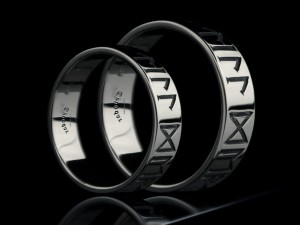 Rune wedding rings | Platinum | TYVODAR