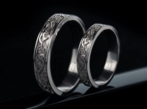 Viking wedding rings  | PLATINUM | TYVODAR