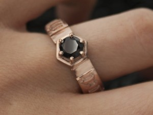 Black diamond engagement ring | TYVODAR