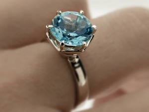 Blue topaz engagement ring | TYVODAR