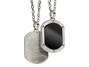 Onyx military necklace | TYVODAR