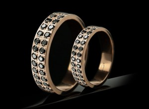 Black wedding rings | TYVODAR