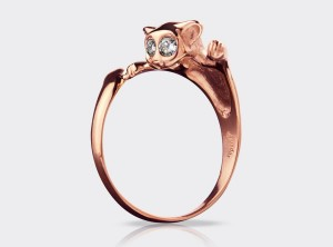 Diamond cat ring | TYVODAR