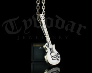 GIBSON - Necklace Gibson guitar silver, guitar necklace, guitar silver, guitar necklace, guitar pendant