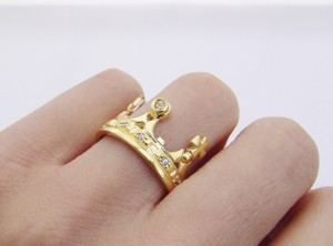 Corona - silver crown ring - Wedding gold crown, Byzantine style , gold crown ring, Victorian crown, Crown