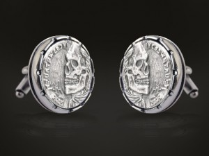 Skull - custom cufflinks for men, motorbike silver, cufflinks cuff