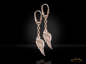 Angel wings earrings | TYVODAR