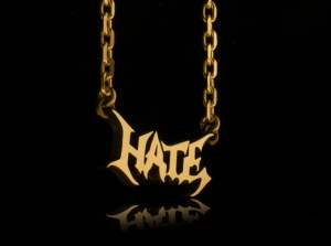 HATE  - Necklace made of silver