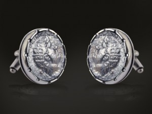 Cufflinks antiquo coin 02 - spinki do mankietów z antycznymi monetami