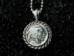 01 / Antique coin  - Necklace made of  silver, antique coin. Necklace antique coin
