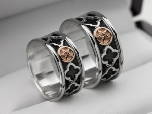Pentagram wedding rings | TYVODAR