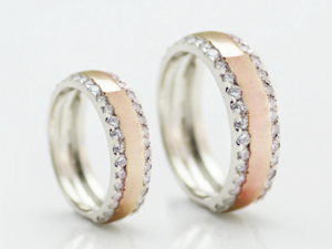 Wedding ring set, wedding band set (1)