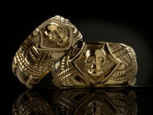 Gold skull wedding rings | TYVODAR
