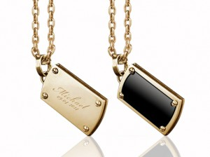 Gold military necklace | TYVODAR