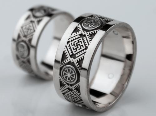 01 Kolovrat Wedding Bands Silver 925 Pagan Wedding Bands