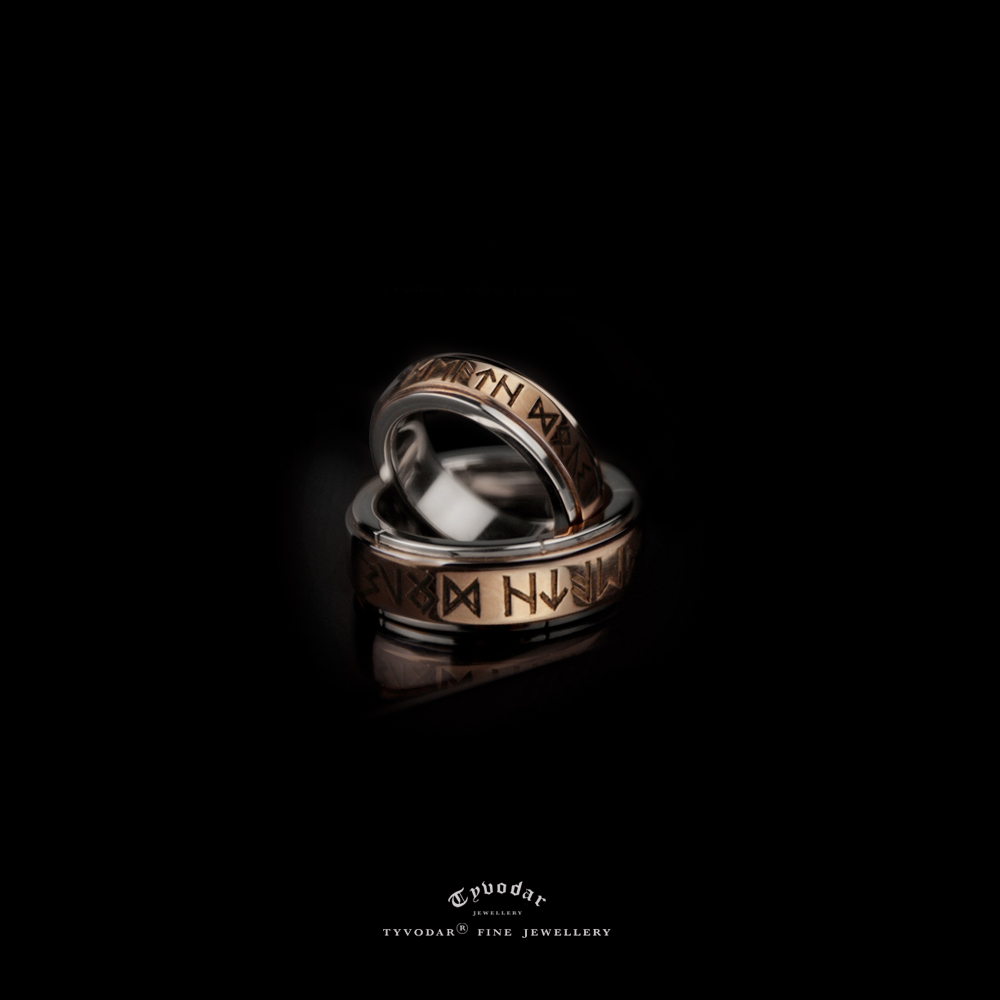 ring celtic wedding gold mens band rings rhodium white black rustic snake over nordic pin