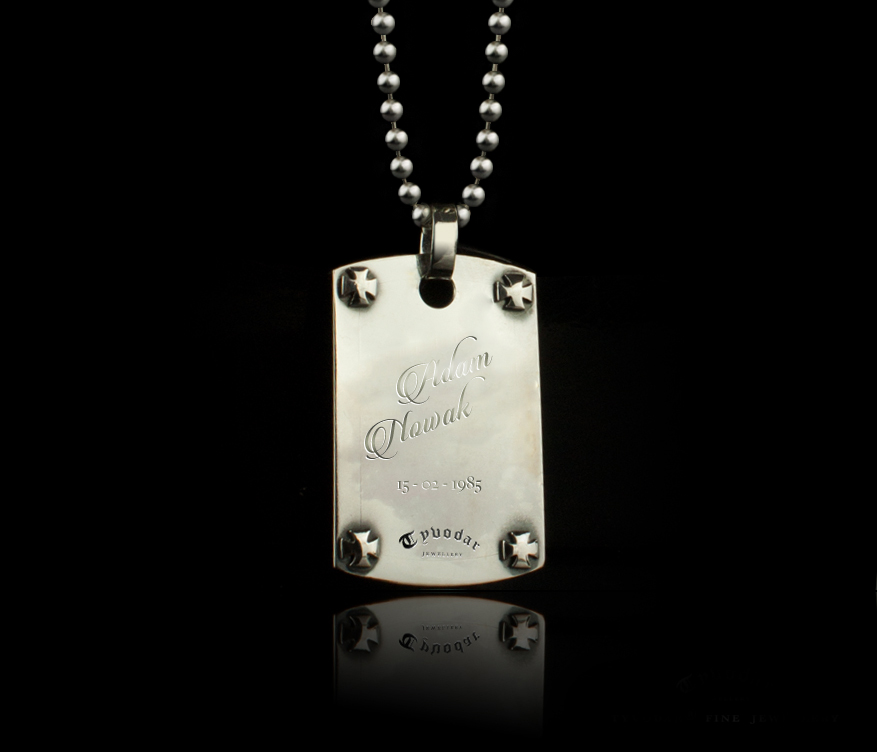 on tag product original oxydised military personalised necklace sibyllejewels baynast engraved de by chain oxidized sibylle
